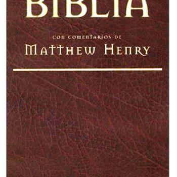Biblia con comentarios de Matthew Henry
