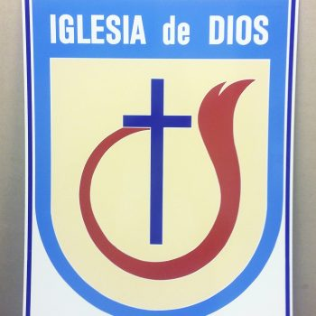 Letrero grande Escudo IDD doble lado 20 x 30